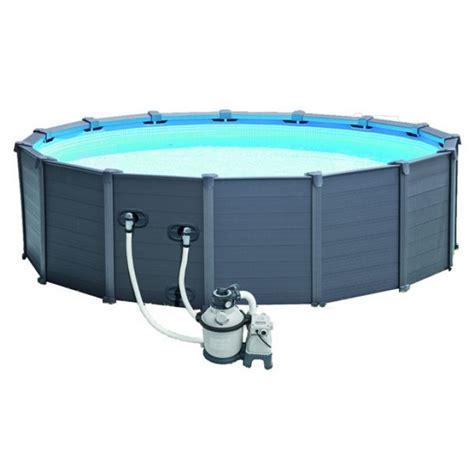 piscine intex graphite solde piscine intex graphite 4 78 x 1 24 piscine tubulaire ronde
