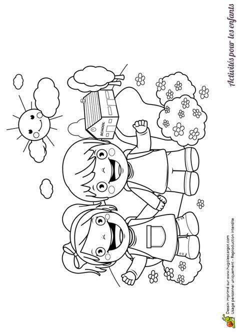 jeux de l ecole de cuisine de gratuit dessin à colorier d enfant partant à l école