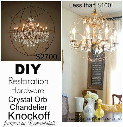 remodelaholic diy orb chandelier knockoff