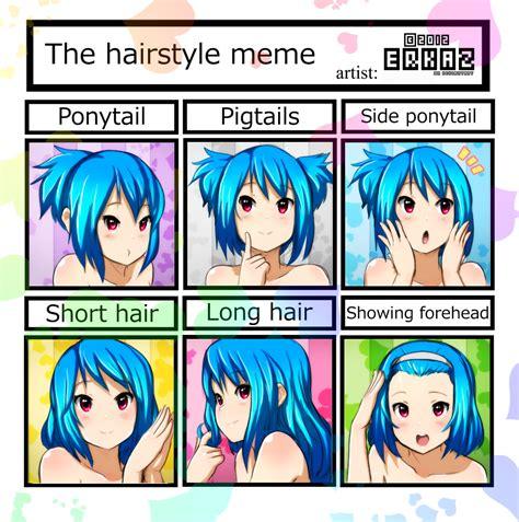 Meme Hairstyles - cr rina s hairstyle meme by erkaz on deviantart