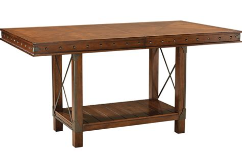 counter height table height red hook pecan rectangle counter height dining table