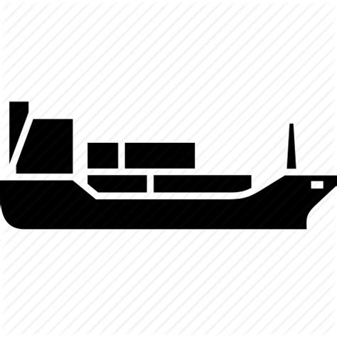 Barge Boat Icon barge cargo ship container merchant ship sea delivery