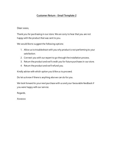 email templates customer service