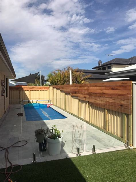 fence makeover   pool area    images