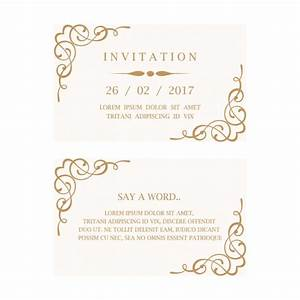 wedding invitation card vector free download With download pictures of wedding invitation card