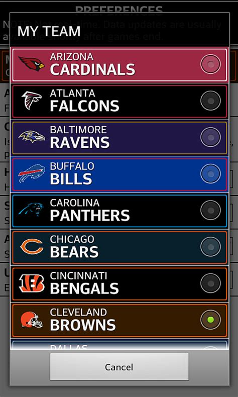 football nfl schedule scores android apps  google play