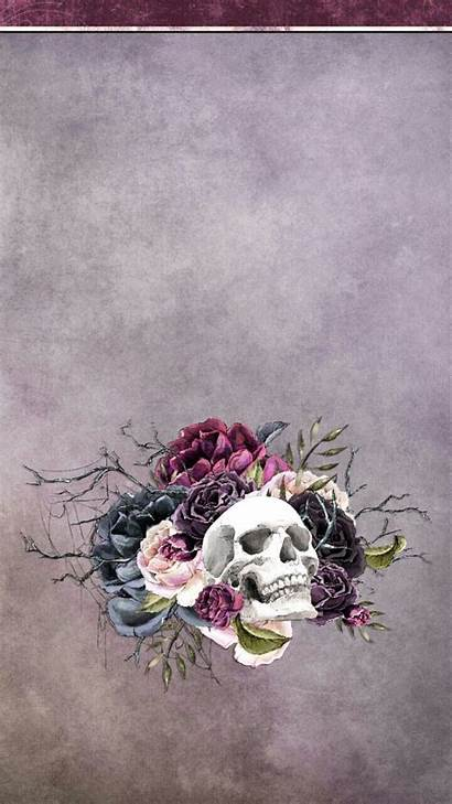 Skull Sugar Floral Iphone Wallpapers Feminine Halloween