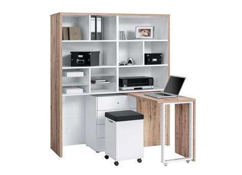 bureau avec rangements bureau modulable contemporain avec rangement chêne blanc