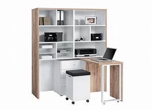 Bureau Avec Rangement : petit bureau avec rangement meuble de bureau moderne lepolyglotte ~ Teatrodelosmanantiales.com Idées de Décoration