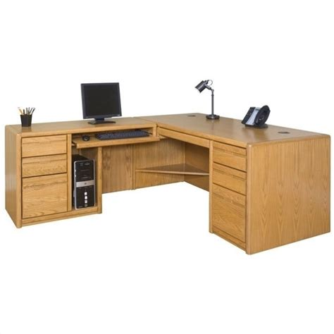 l shaped oak computer desk martin furniture contemporary lhf l shaped computer desk