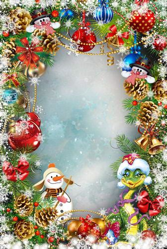 customize washable wrinkle free merry christmas frame backdrops for kids photo