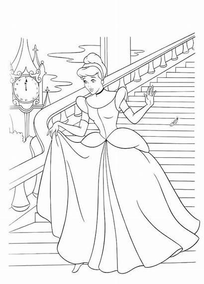 Cinderella Coloring Pages Castle Prince Charming Princess