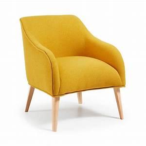 Fauteuil Bois Et Tissu : fauteuil tissu varese rembourr et bois naturel norbert by ~ Melissatoandfro.com Idées de Décoration