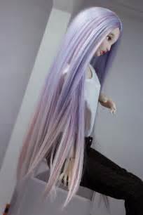 Ellana Ooak Medium Wig Highlighted Purpleandblue Hair