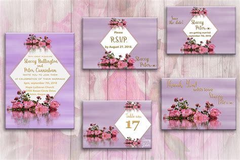 Floral Purple Wedding Invite,wedding Cards,invitation, 50off