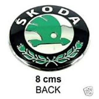 buy logo skoda 8 cms old rear back emblem badge skoda octavia rapid superb fabia online