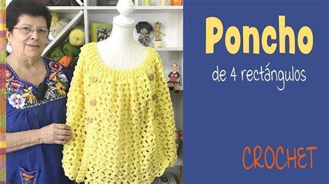 tejiendo peru ponchos crochet poncho de 4 rect 225 ngulos tejido a crochet tejiendo per 250