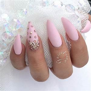 About pink stiletto nails on nail