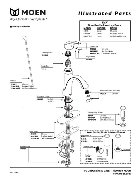 Moen Single Handle Kitchen Faucet Parts Diagram Moen Two