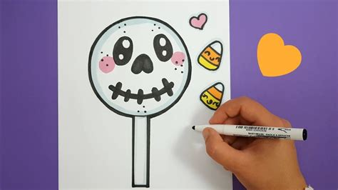 kawaii halloween lolli zeichnen kawaii bilder youtube