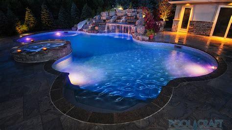 inground pool lights custom inground pools design install pool craft