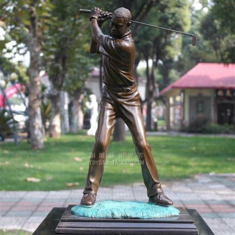 tiger woods bronze statue golf movement crafts art home