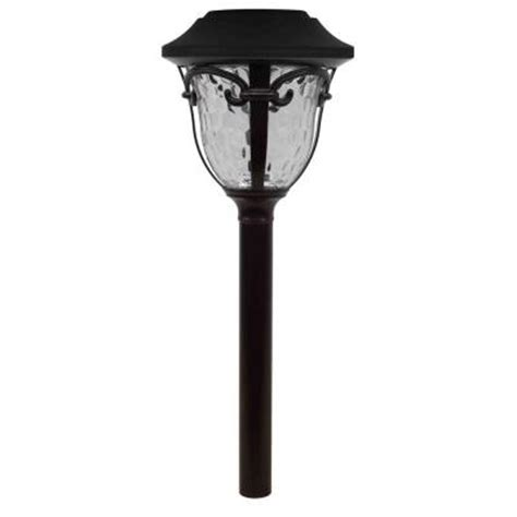 hton bay open stock led solar outdoor pathway light nxt