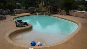 piscines de formes libres paysagees o39mineraux With piscine forme libre avec plage