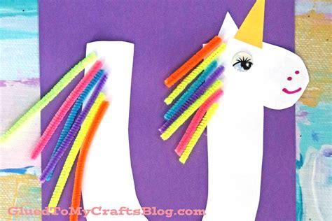 unicorn kid craft glued   crafts