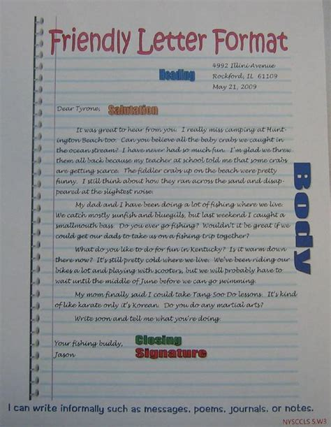 friendly letter writing rubric grade   beauty