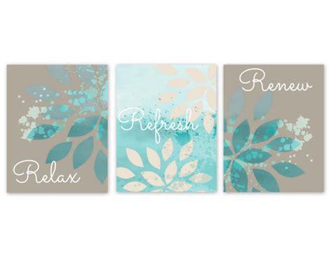 bathroom wall decor teal bathroom decor turquoise bathroom