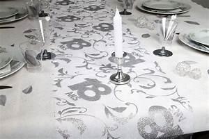 Chemin De Table Anniversaire : chemin de table 18 ans argent 0 28 x 5 m ~ Melissatoandfro.com Idées de Décoration