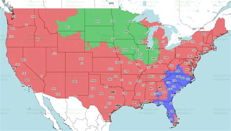 nfl week  tv schedule coverage maps