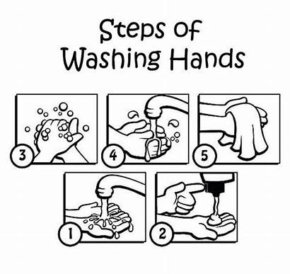 Washing Hand Coloring Activities Pages Kindergarten Worksheets