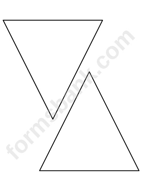 triangle pattern template printable
