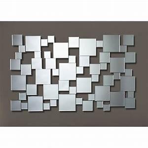 Miroir Mural Pas Cher : miroirs meubles et rangements gizeh miroir mural design multi carreaux inside75 ~ Teatrodelosmanantiales.com Idées de Décoration