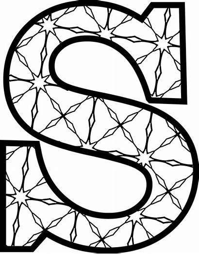 Letters Letter Alphabet Printable Coloring Pattern Templates