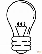 Bulb Coloring Light Lightbulb Svg Pages Mark  Christmas Printable Clipart Template Commons Bombilla Bulbs Clipartbest Colorear Sketch Para Wikimedia sketch template