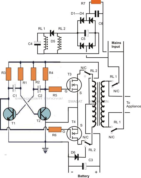 single transformer inverterchargerchangeover circuit