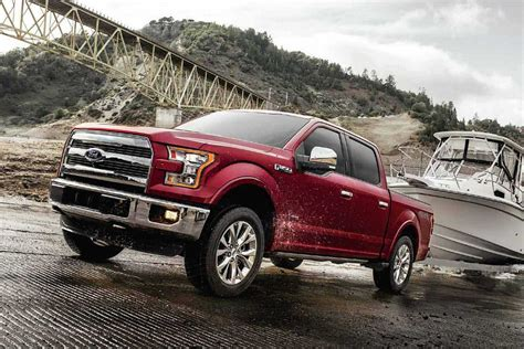 2017 Ford F150 Off Road Hd Red Color Widescreen Wallpaper