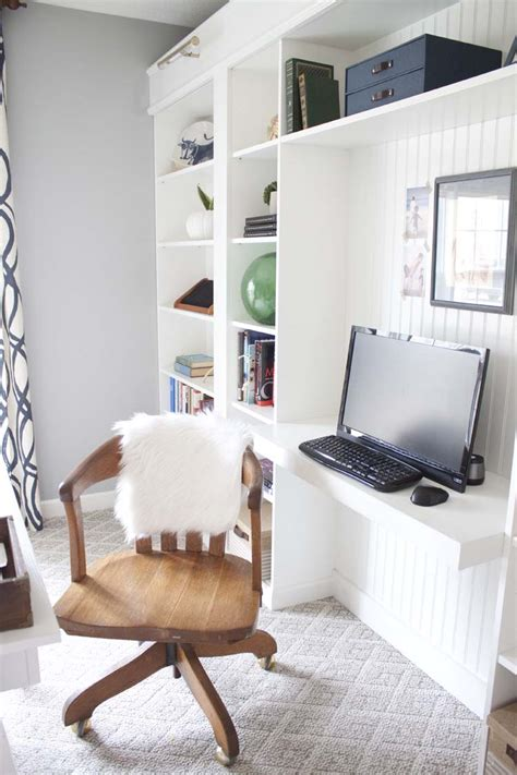 bureau billy ikea office makeover reveal ikea hack built in billy