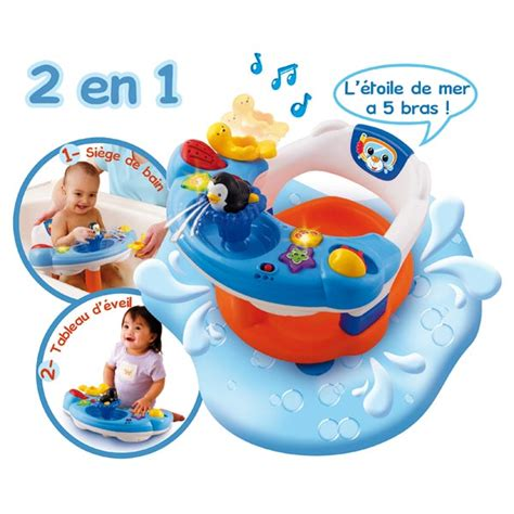 siege de bain interactif siège de bain interactif 2 en 1 vtech king jouet