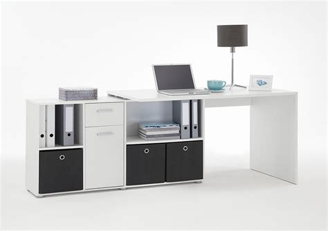 Bureau Moderne Blanc Avec Plateau Tournant