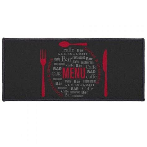 tappeto cucina rosso tappeto da cucina 120 cm menu rosso tappeti eminza