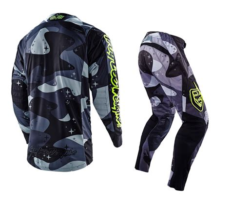 camo motocross jersey troy lee designs new 2016 tld mx se cosmic camo grey