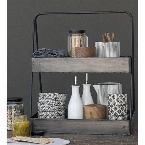 étagère à poser cuisine etagere a poser sur plan de travail metal vintage ib laursen 3153 25