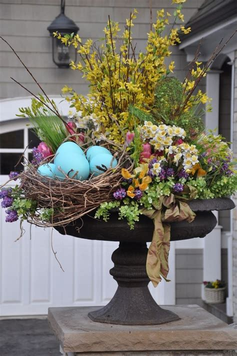 outdoor easter planter pictures   images