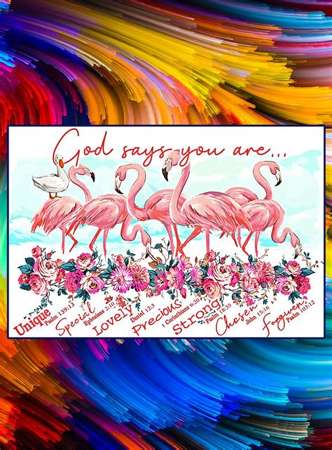 Flamingo god says you are poster
