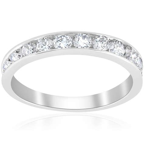 ct diamond wedding ring  white gold channel set womens