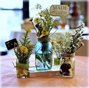 Bridgey, Widgey, Mason, Jar, Centerpieces